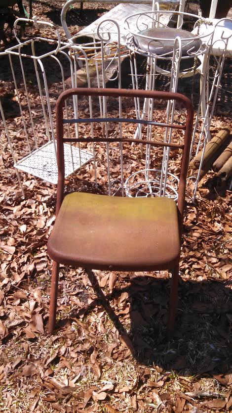 little metal chair